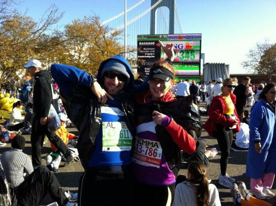At the start line - NYC marathon