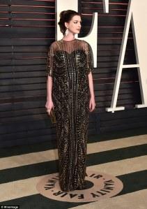 Anne Hathaway Vanity Fair Party Oscars 2016