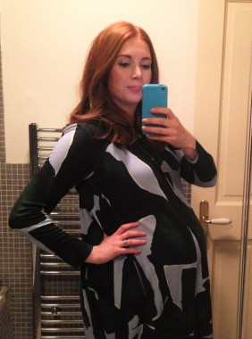 Wishfulstylequeen at 40 weeks pregnant