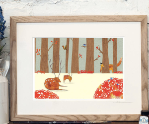 Woodland Print by Louise Wright Design Image from Not on the High Street